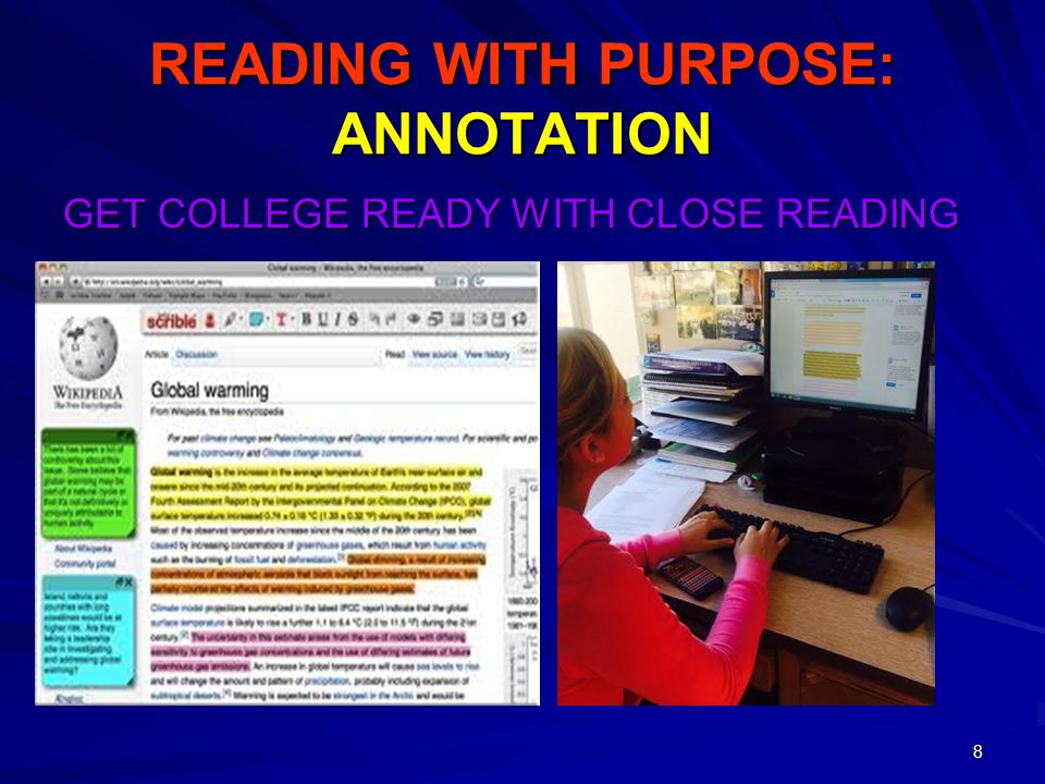READING WITH PURPOSE: ANNOTATION