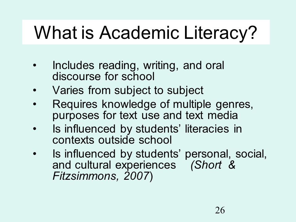 What is Academic Literacy