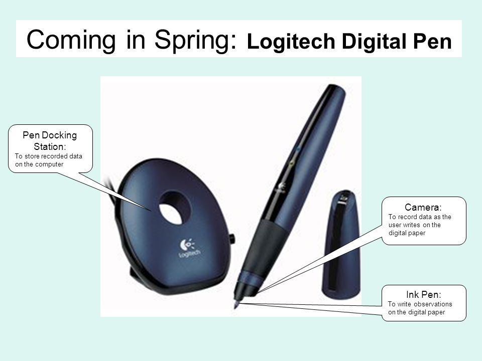 Coming in Spring: Logitech Digital Pen