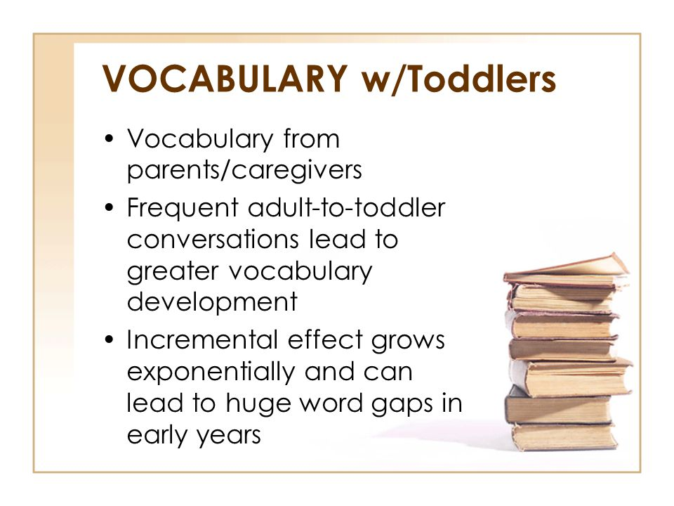 VOCABULARY w/Toddlers
