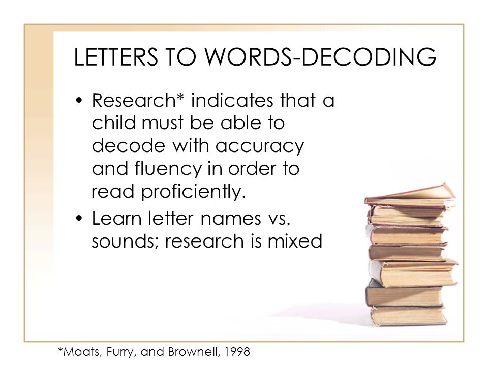LETTERS TO WORDS-DECODING