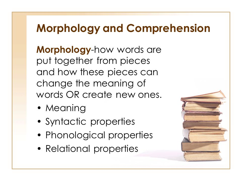 Morphology and Comprehension