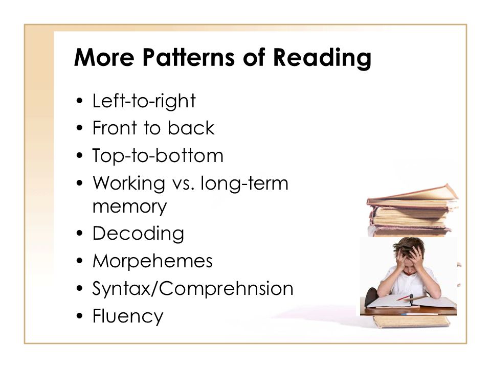 More Patterns of Reading