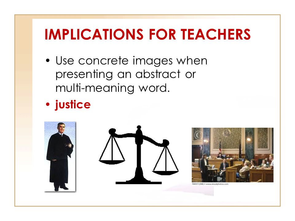 IMPLICATIONS FOR TEACHERS