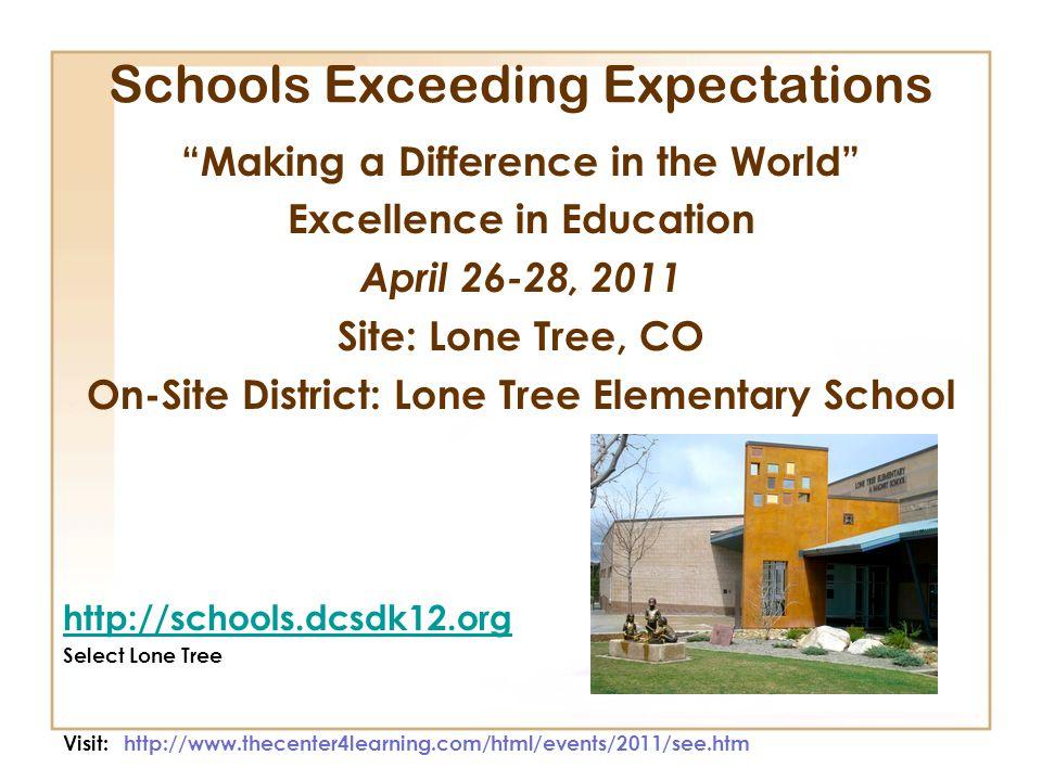 Schools Exceeding Expectations