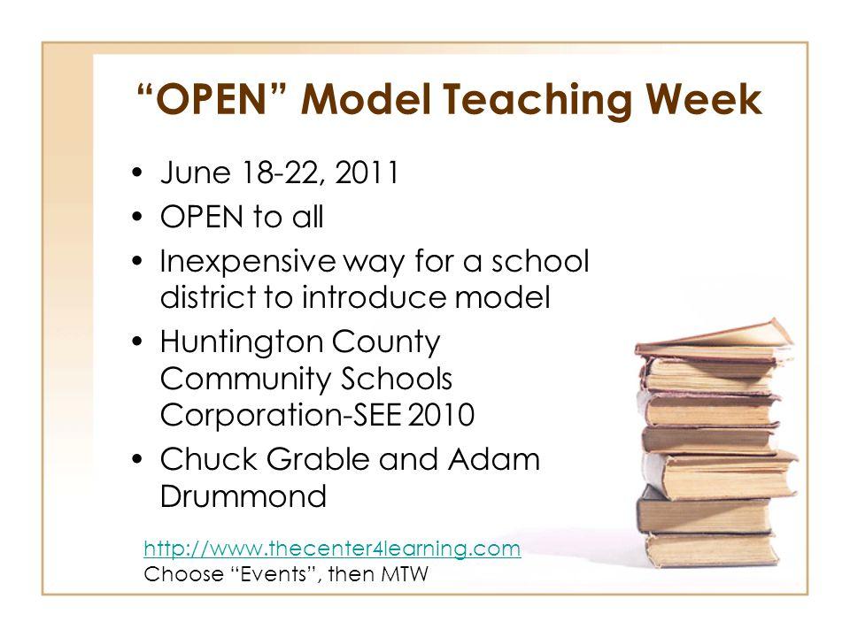 OPEN Model Teaching Week