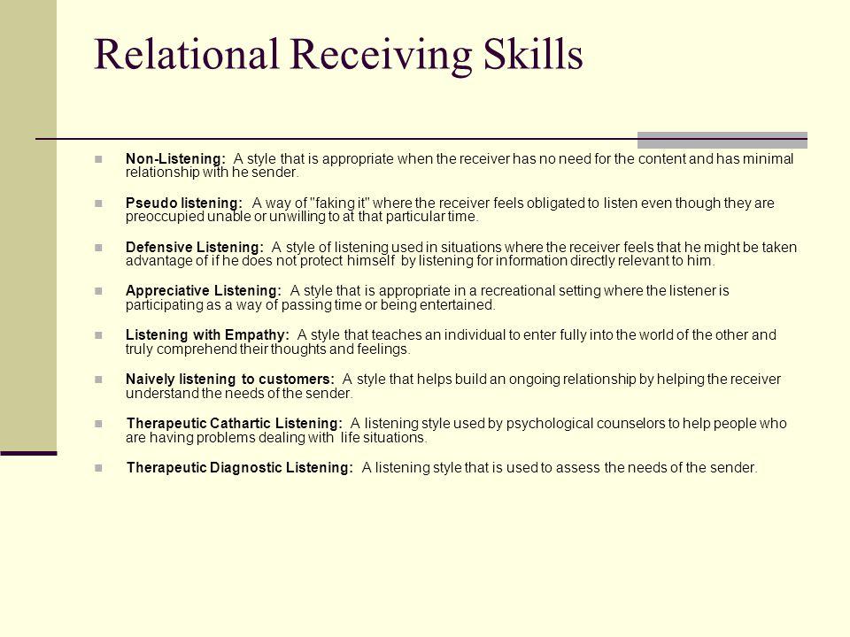 Relational Receiving Skills
