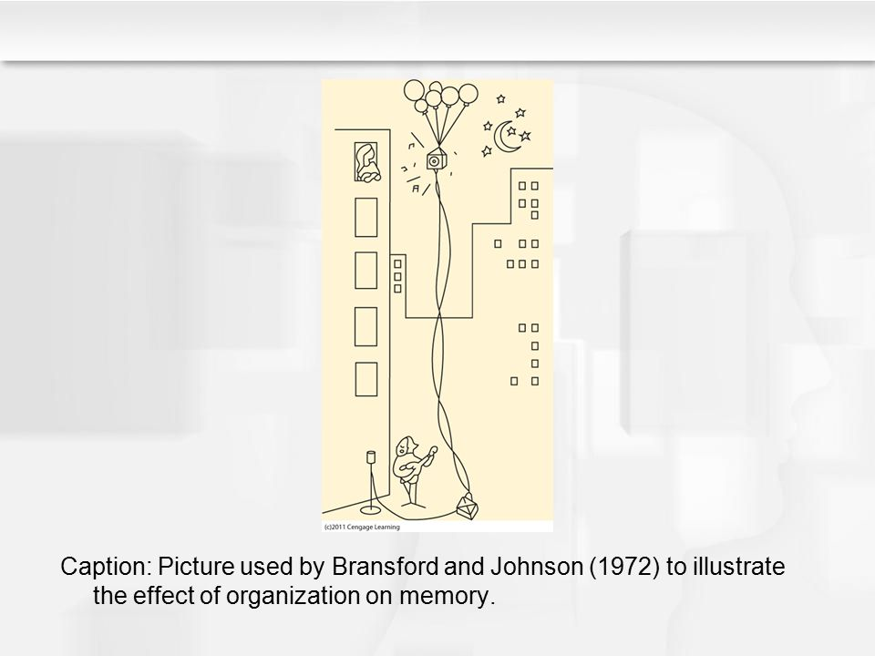 Caption: Picture used by Bransford and Johnson (1972) to illustrate the effect of organization on memory.