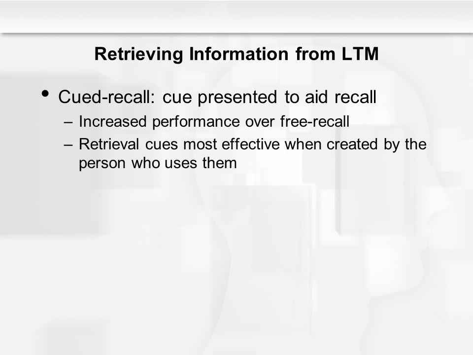 Retrieving Information from LTM