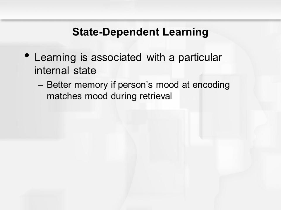 State-Dependent Learning