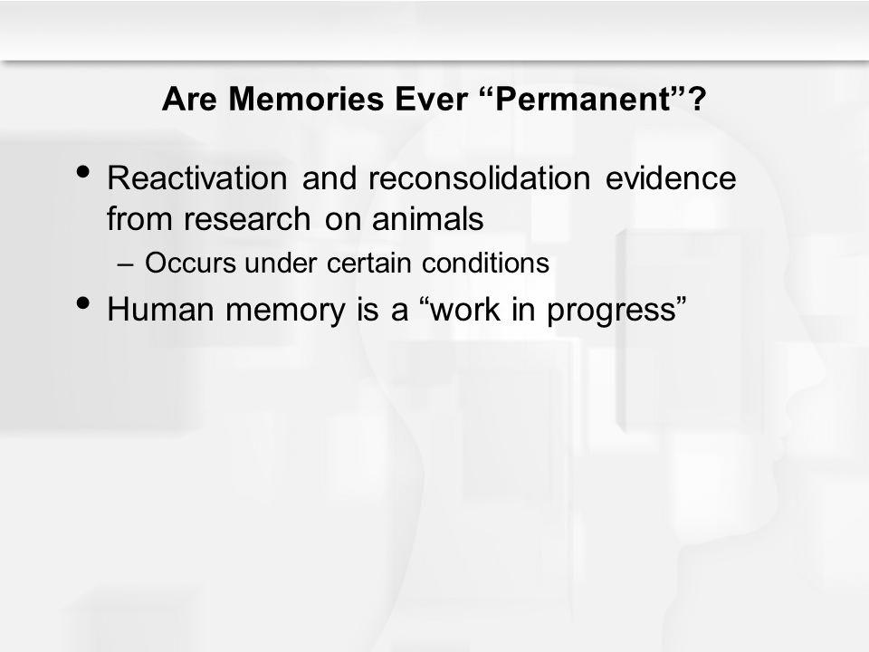 Are Memories Ever Permanent