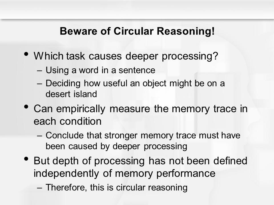 Beware of Circular Reasoning!