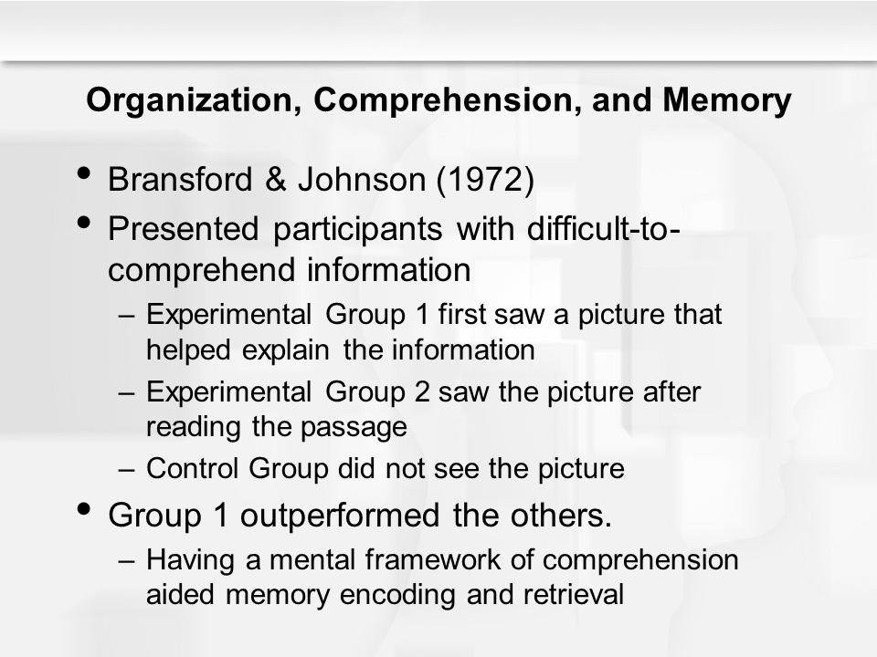 Organization, Comprehension, and Memory