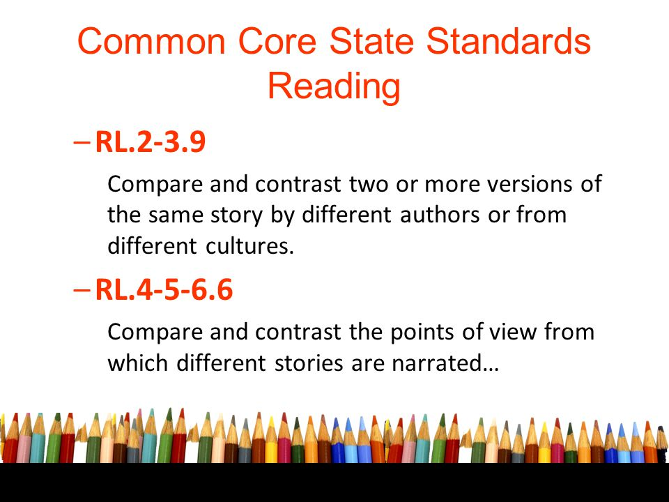 Common Core State Standards Reading