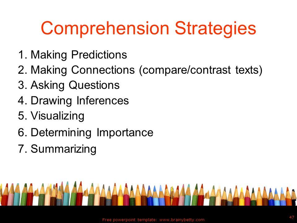 Comprehension Strategies