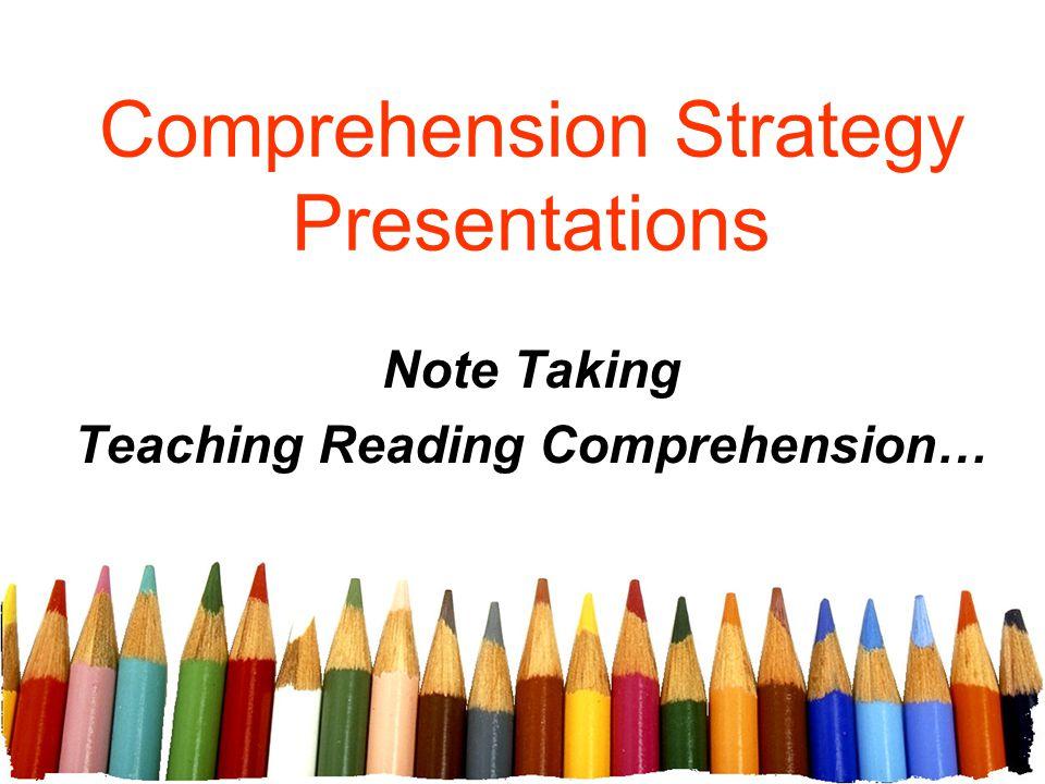 Comprehension Strategy Presentations