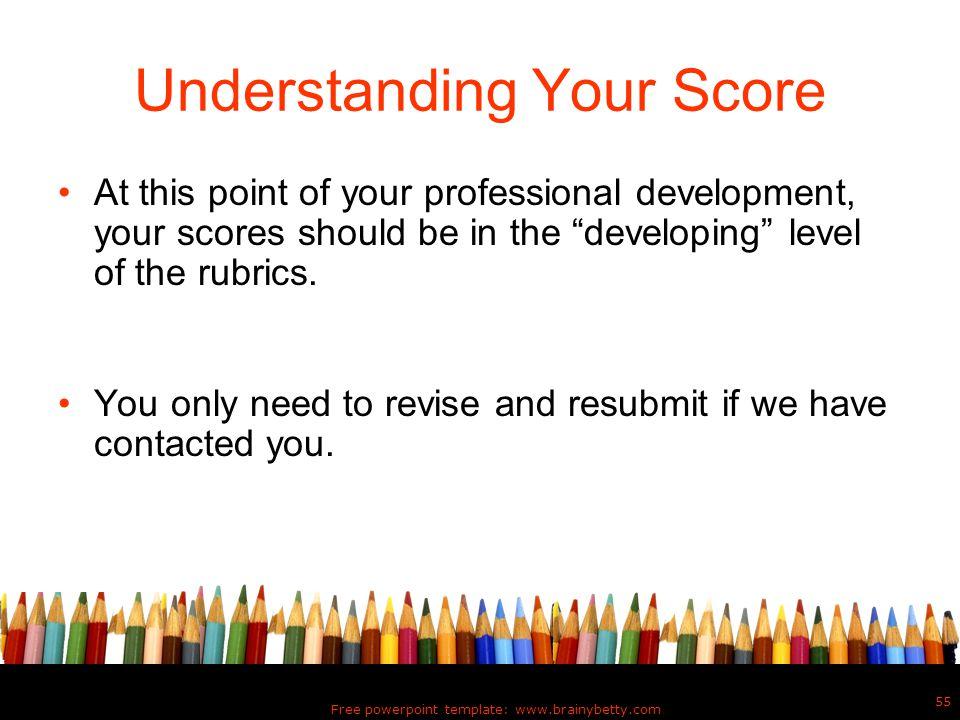 Understanding Your Score