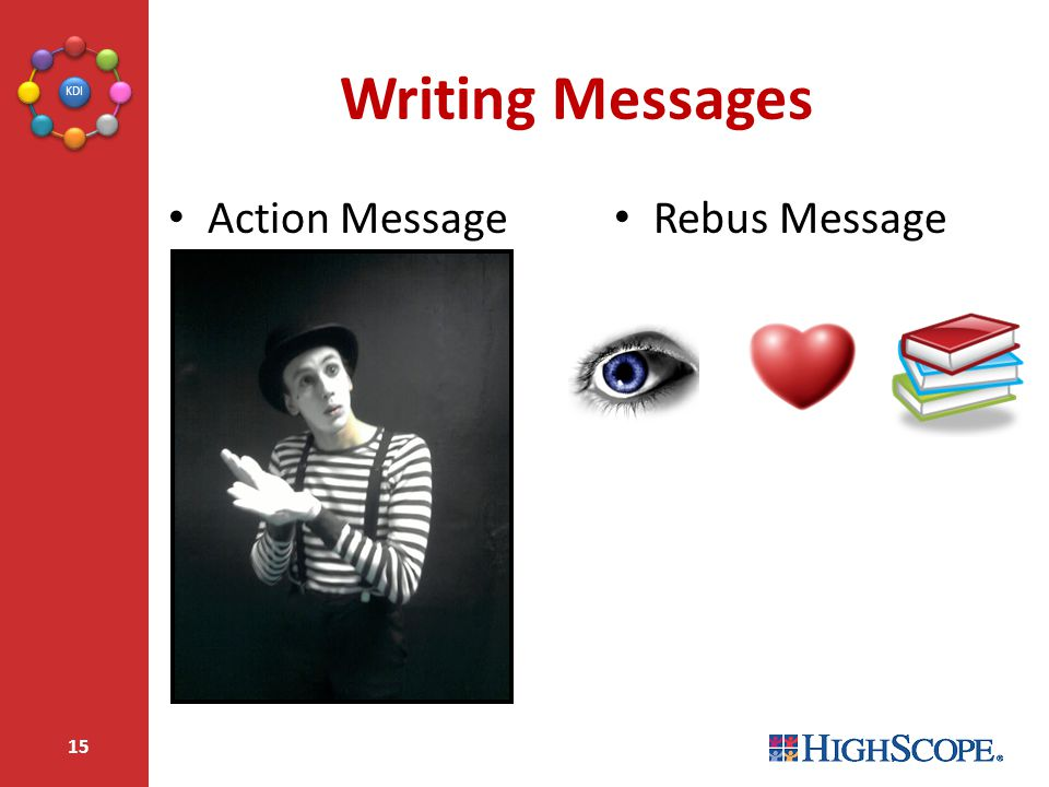 Writing Messages Action Message Rebus Message