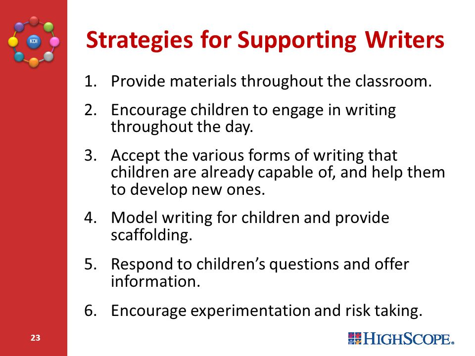 Strategies for Supporting Writers