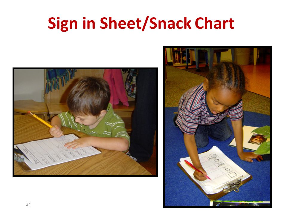 Sign in Sheet/Snack Chart