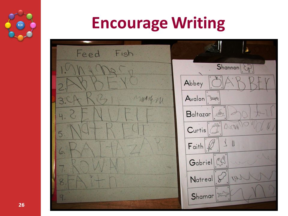 Encourage Writing