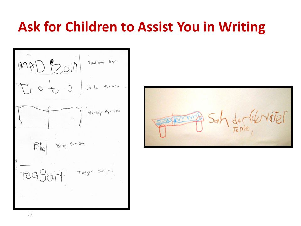 Ask for Children to Assist You in Writing