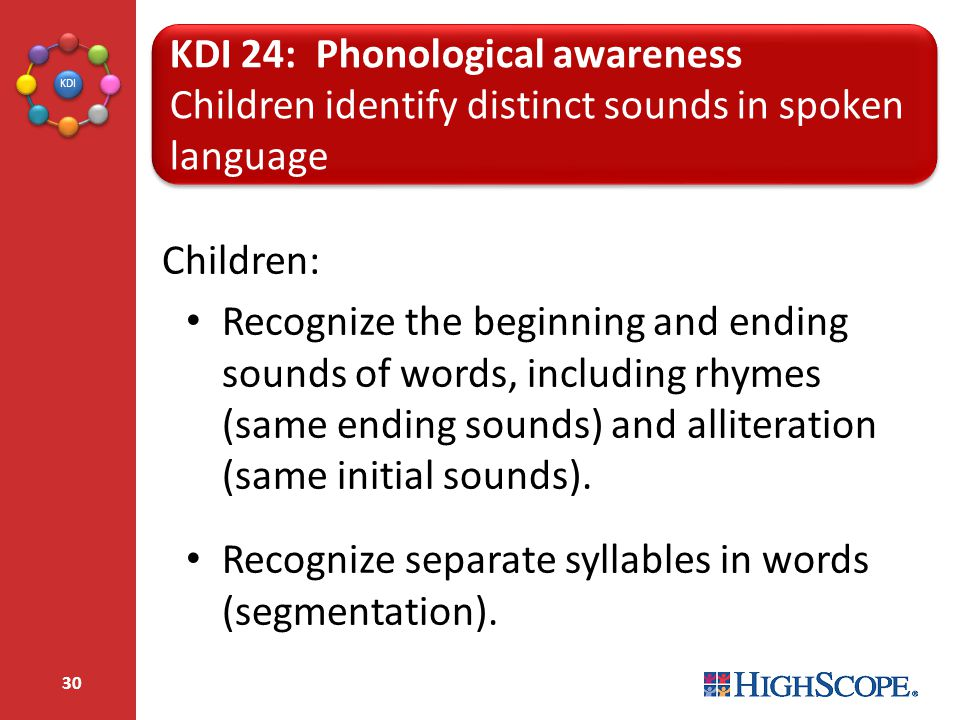 KDI 24: Phonological awareness