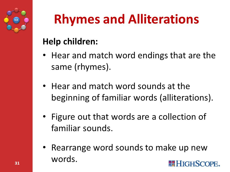 Rhymes and Alliterations