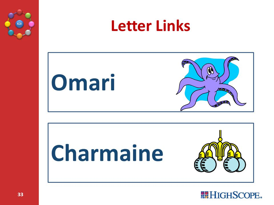 Letter Links Omari Charmaine