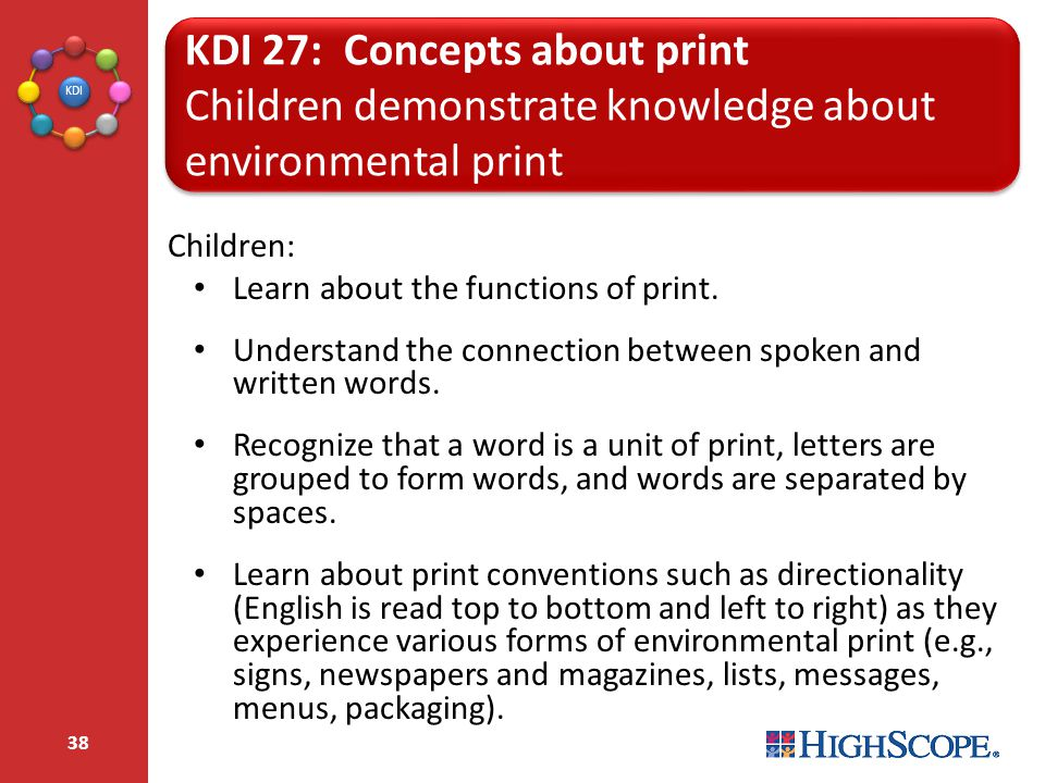 KDI 27: Concepts about print