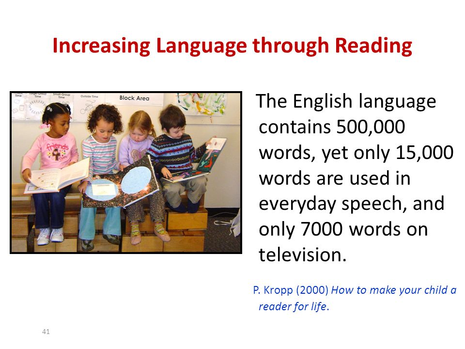 Increasing Language through Reading