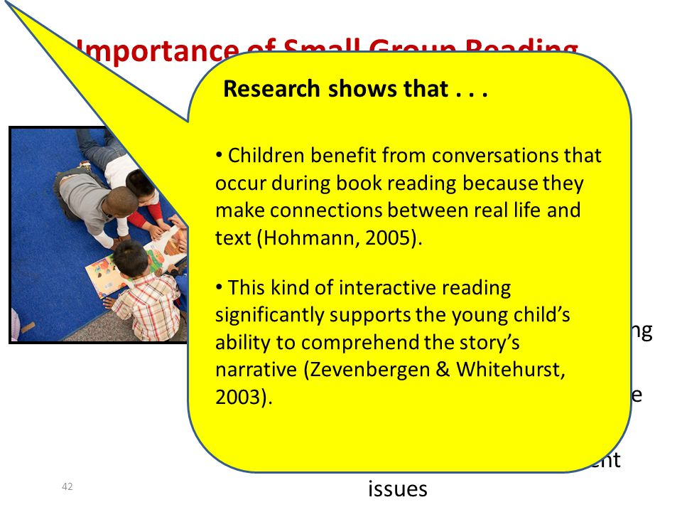 Importance of Small Group Reading
