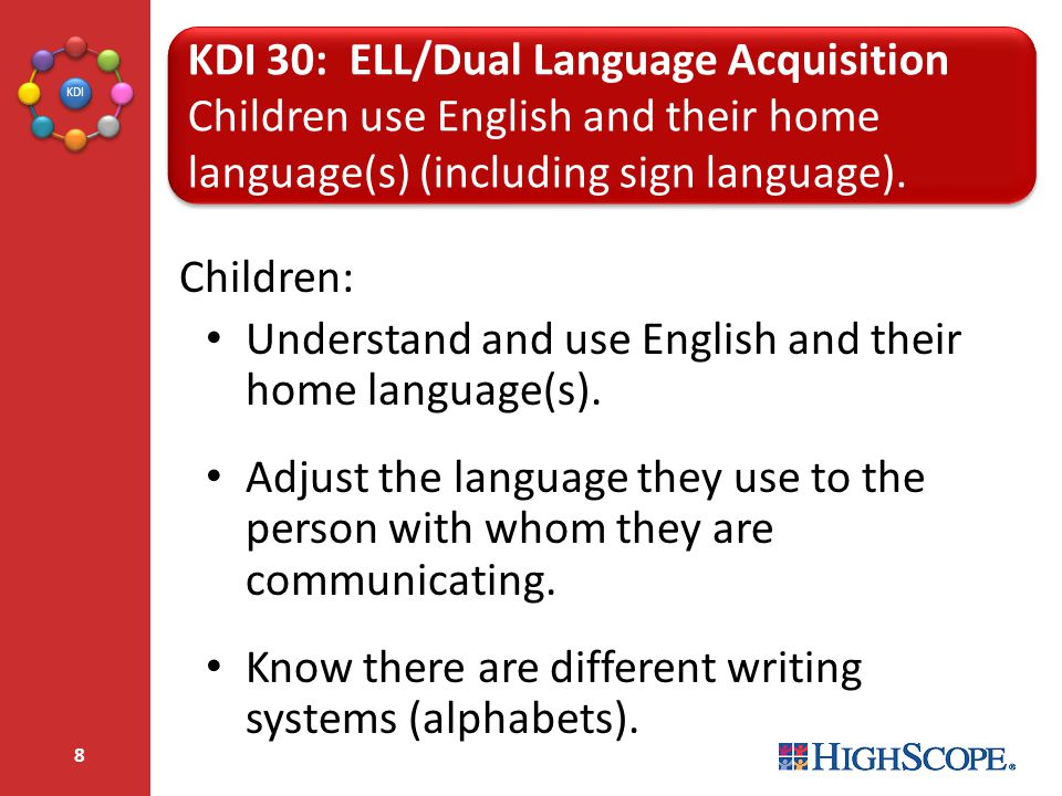 KDI 30: ELL/Dual Language Acquisition