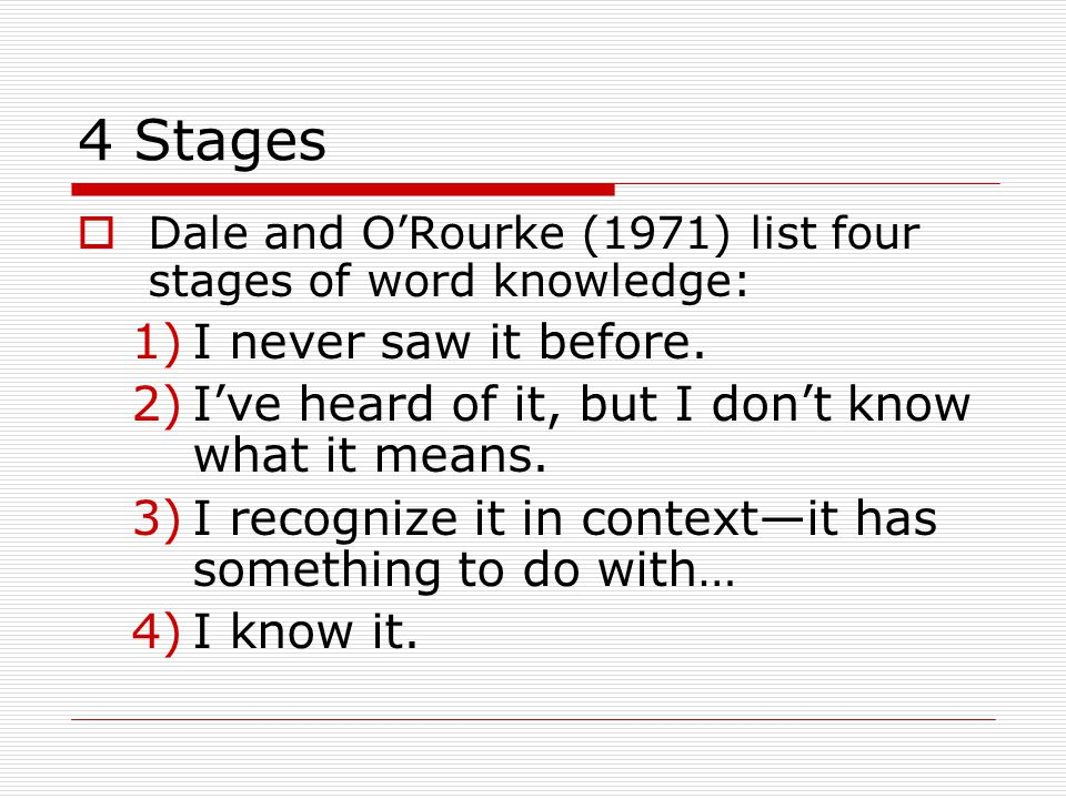 4 Stages I never saw it before.