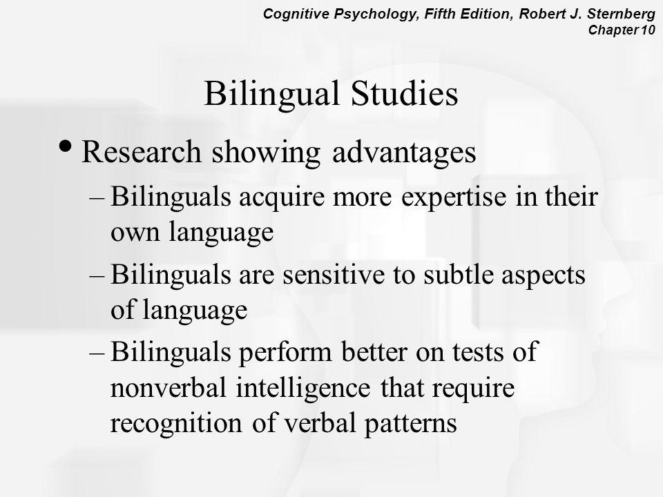 Bilingual Studies Research showing advantages
