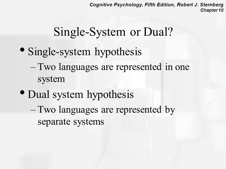 Single-System or Dual Single-system hypothesis Dual system hypothesis