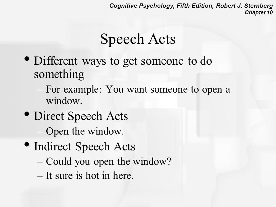 Speech Acts Different ways to get someone to do something