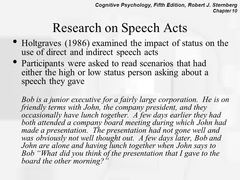 Research on Speech Acts