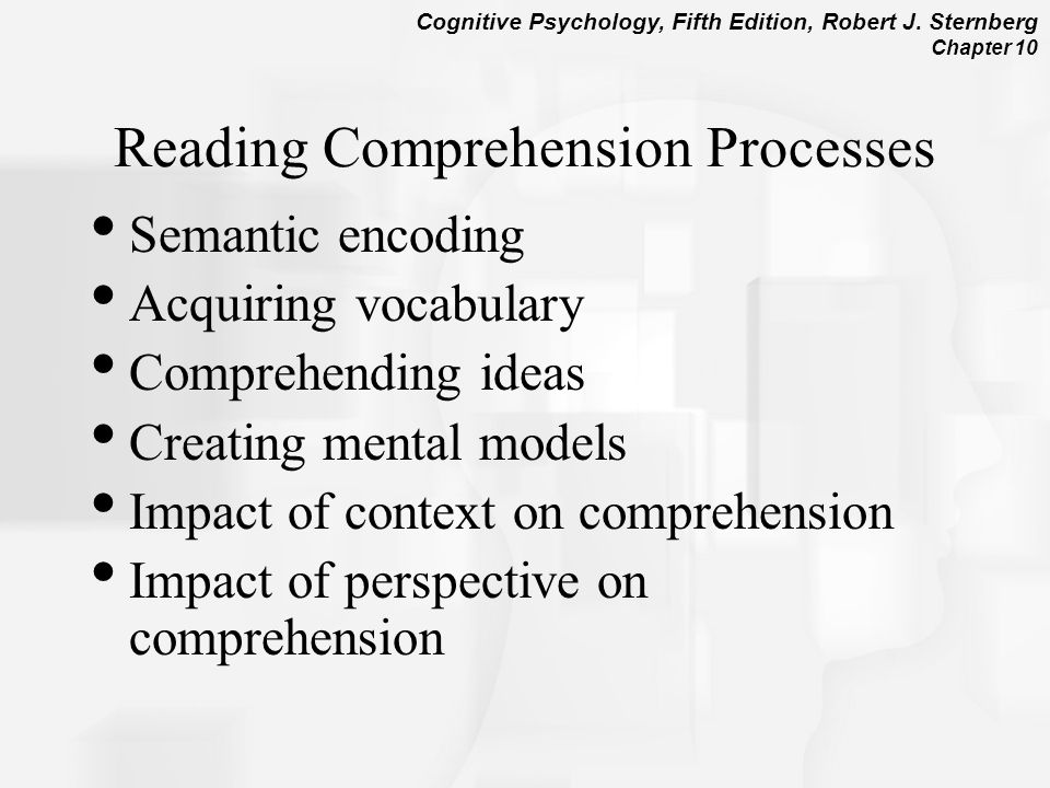 Reading Comprehension Processes