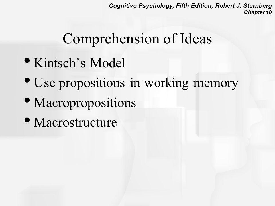 Comprehension of Ideas