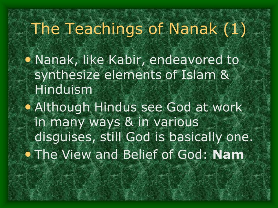 The Teachings of Nanak (1)