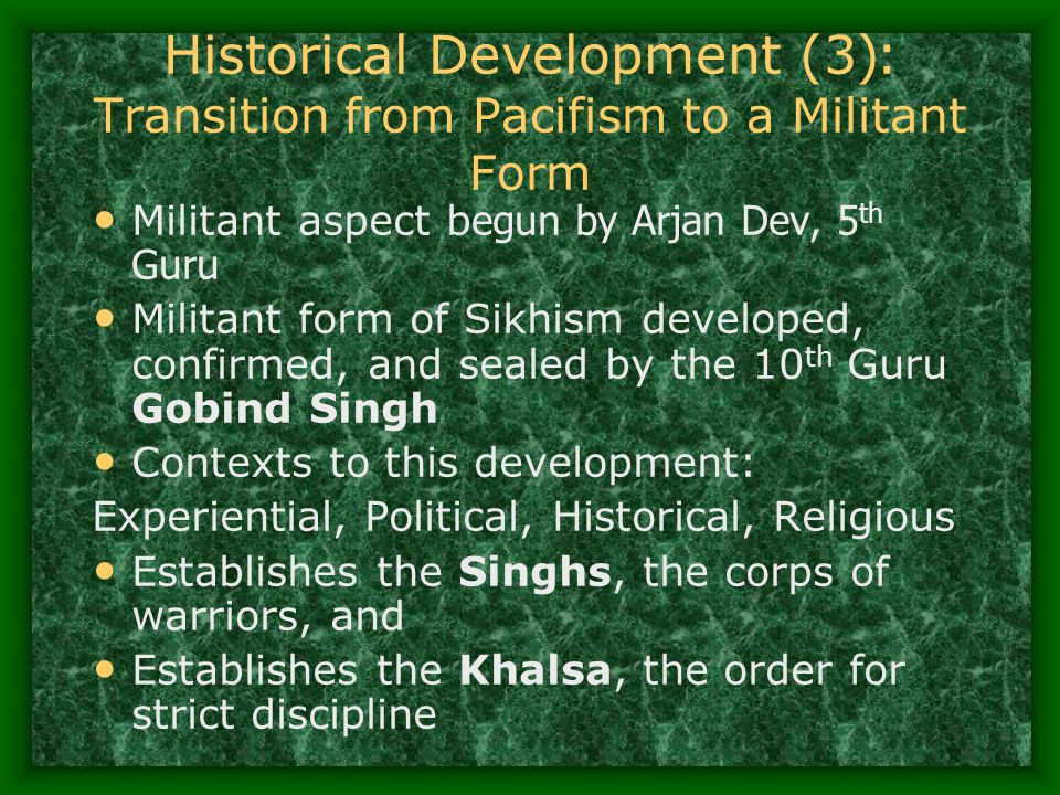 Historical Development (3): Transition from Pacifism to a Militant Form