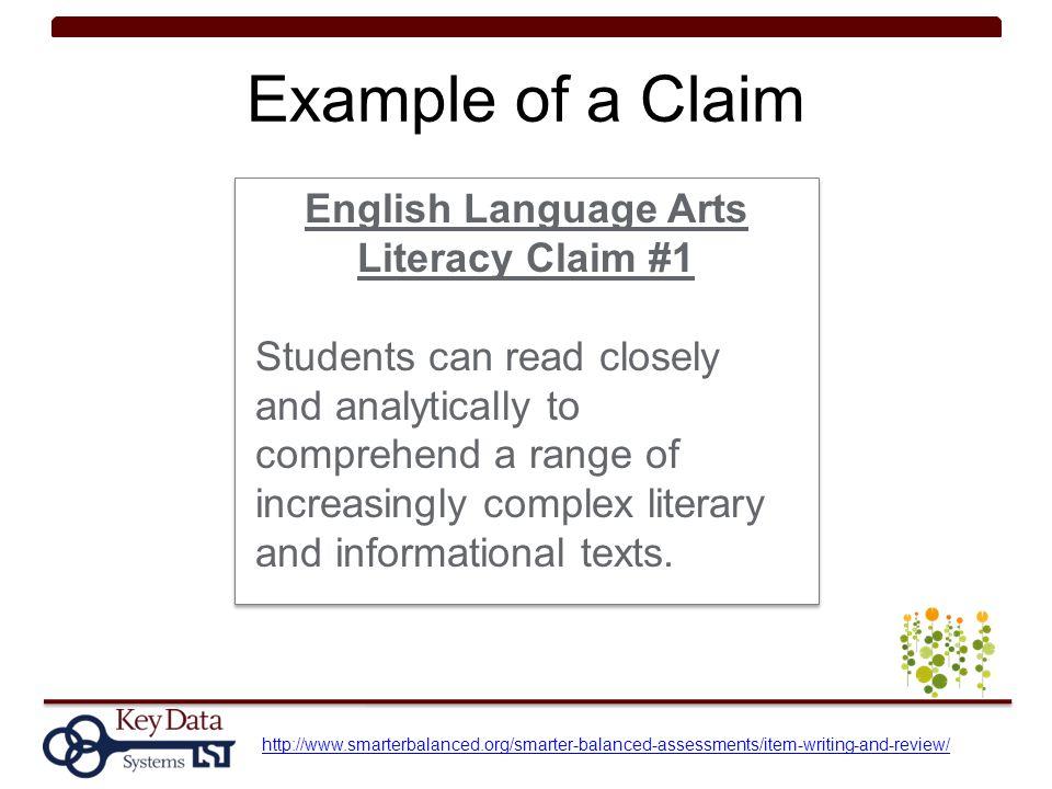 English Language Arts Literacy Claim #1