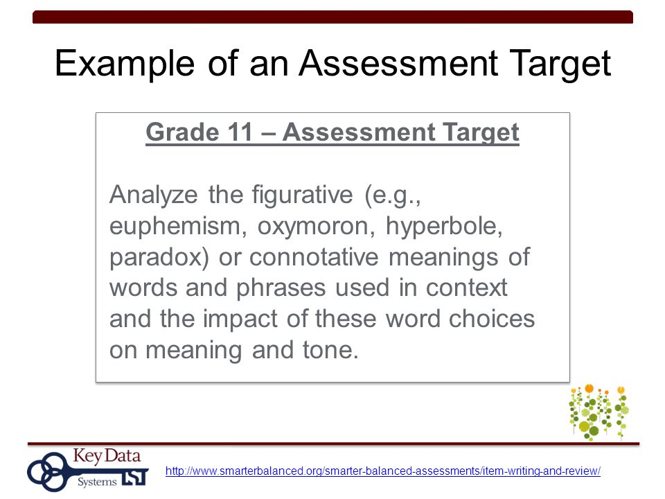 Example of an Assessment Target