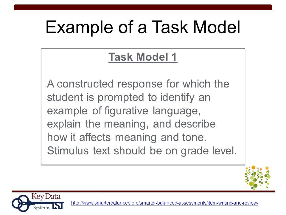 Example of a Task Model Task Model 1