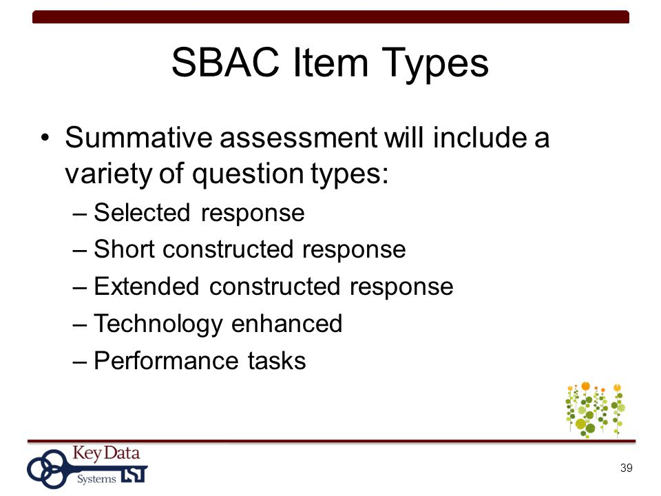 Understanding Ccss And The Sbac Summative Assessment  Ppt Download
