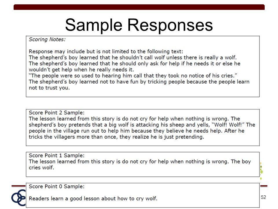 Sample Responses