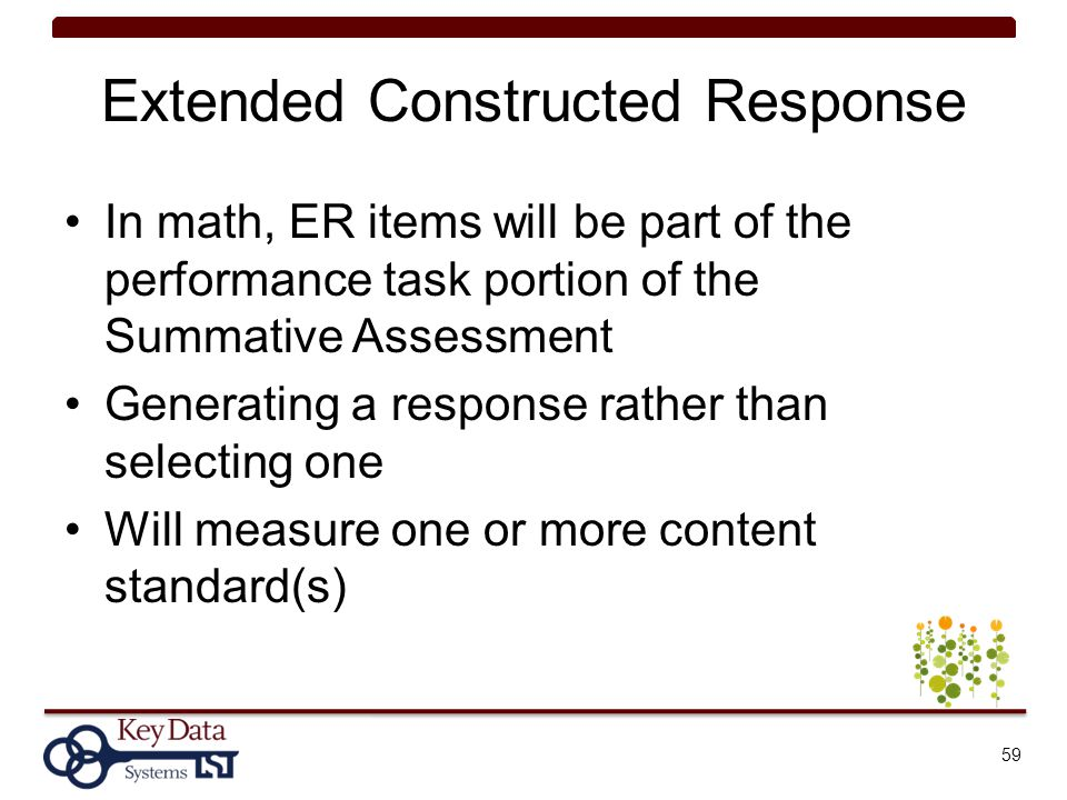 Extended Constructed Response