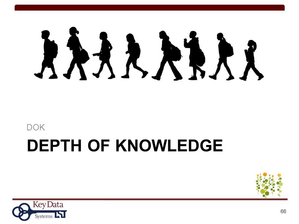 DOK Depth of knowledge