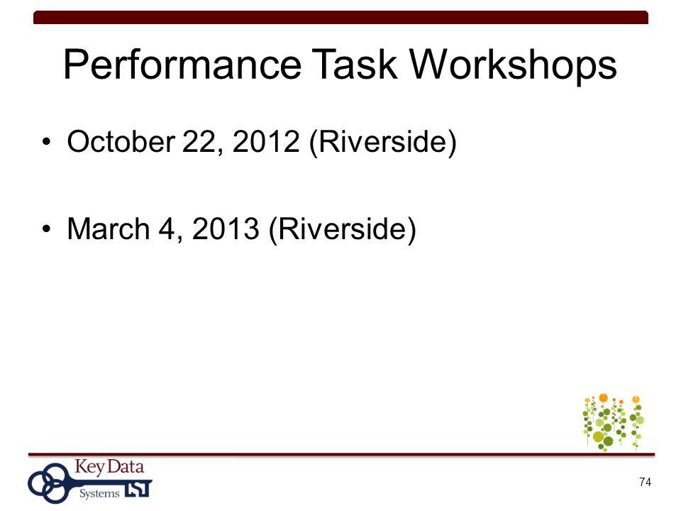 Performance Task Workshops